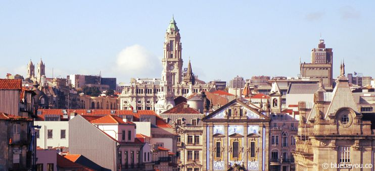 Porto, Portugal: Blick über die Stadt.