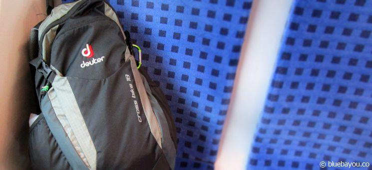 Mein drei Kilogramm schweres Reisegepäck für acht Tage Wandern auf dem Jakobsweg.