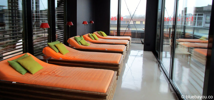 Der Entspannungsbereich im SPA des Saks Design Hotels in Kaiserslautern.