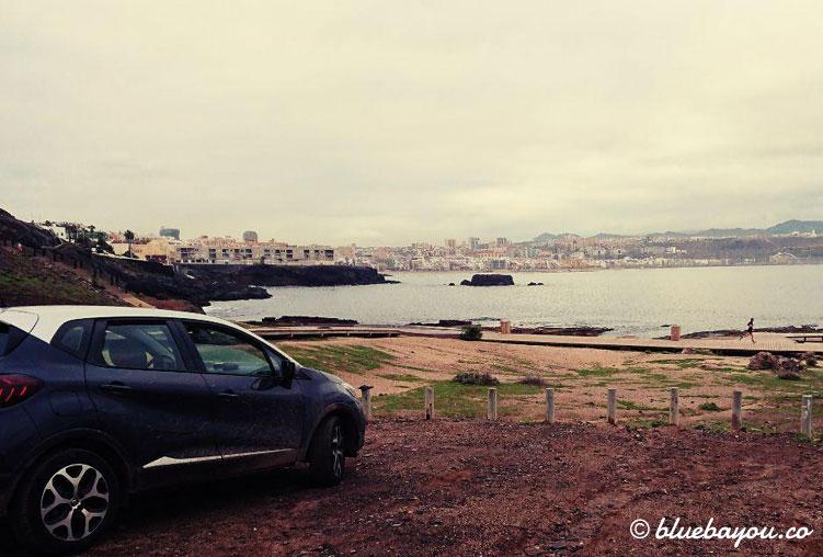 Mein Schlafplatz bzw. Ausblick beim Roadtrip auf Gran Canaria.