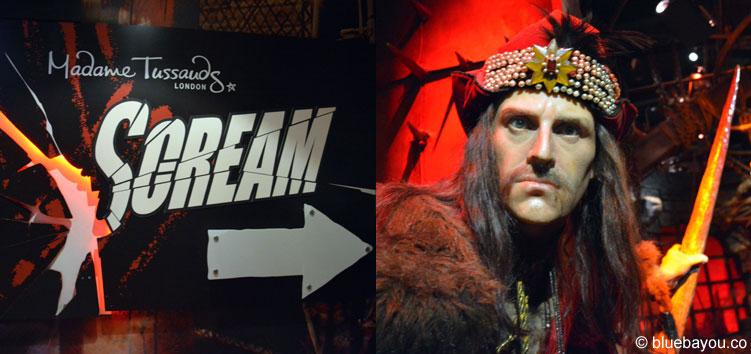 Dracula (Vlad der Pfähler) bei Madame Tussauds in London.