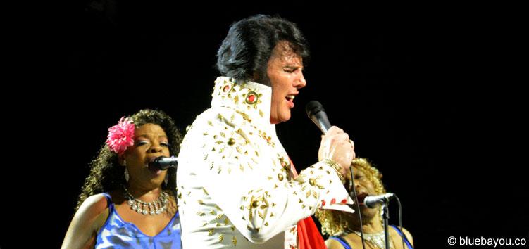 Shawn Klush am 9. August 2015 während der Elvis Week im New Daisy Theater Memphis.