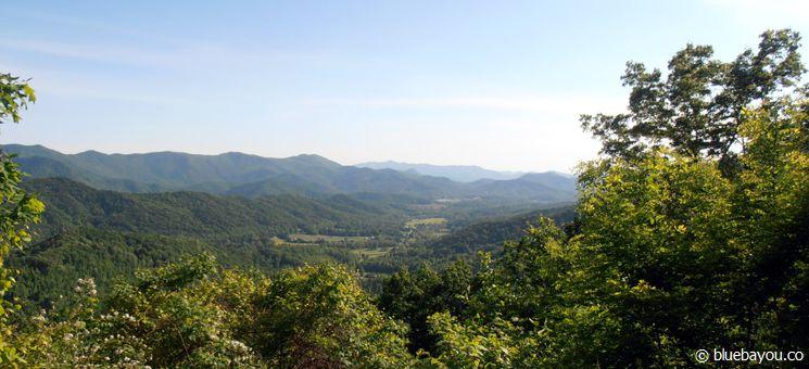 Aussichtspunkt im Great Smoky Mountain Nationalpark in den USA.