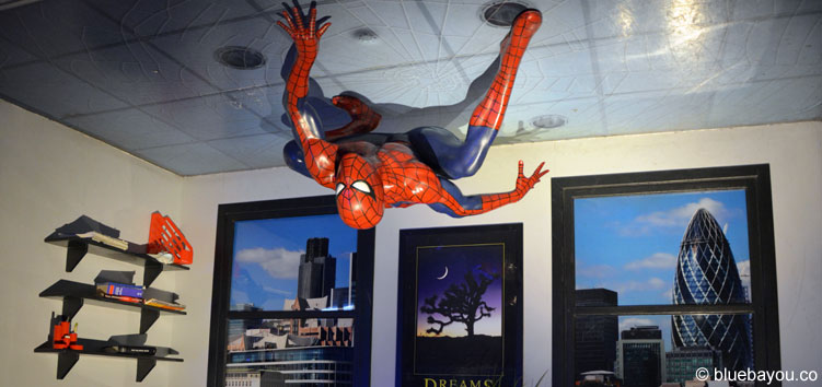 Spiderman bei Madame Tussauds in London.