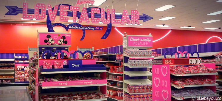 Dekoration zum Valentinstag bei Target.