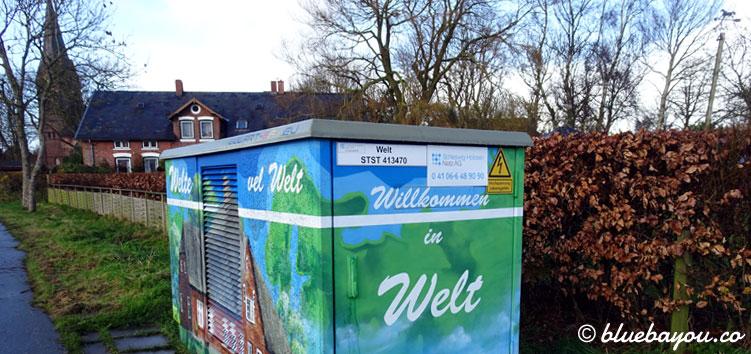 Verrückte Ortsnamen: Willkommen in Welt, Schleswig-Holstein.