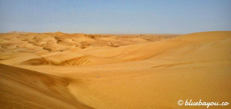 Wüstensafari in Dubai während der Reise mit dem Around-the-World-Ticket.